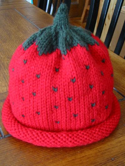 Knitting Pattern For Strawberry Hat : Knit Strawberry Pattern Patterns Gallery